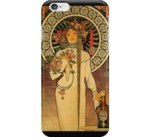 'La Trappistine' by Alphonse Mucha (Reproduction) iPhone Case/Skin