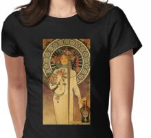'La Trappistine' by Alphonse Mucha (Reproduction) Womens Fitted T-Shirt