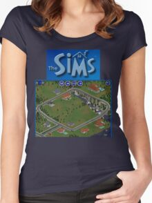 The Sims 1 - Neighborhood Women's Fitted Scoop T-Shirt