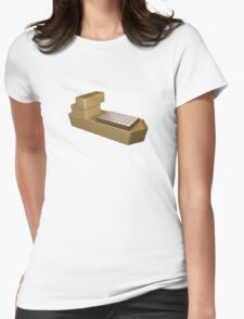 Chocolate Ship - 3D Art Womens Fitted T-Shirt