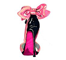 Pink Shoe Photographic Print