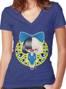 Chibi Sia SNL Women's Fitted V-Neck T-Shirt