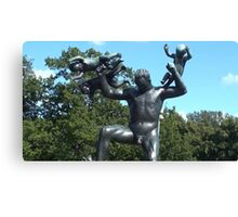 Norway, Oslo- Sculpture Garden2/Photography+Products Design Canvas Print