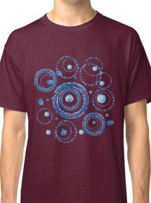 Watercolor circle wreath blue pattern Classic T-Shirt