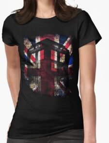 Dr. Who - Union Jack Womens Fitted T-Shirt