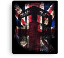 Dr. Who - Union Jack Canvas Print