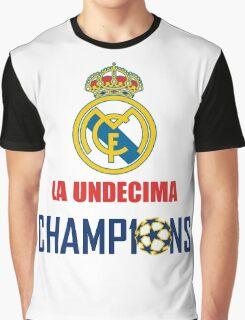 UNDECIMA REAL MADRID CHAMPIONS 2016 Graphic T-Shirt