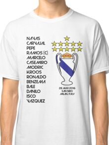 Real Madrid 2016 Champions League Winners Classic T-Shirt