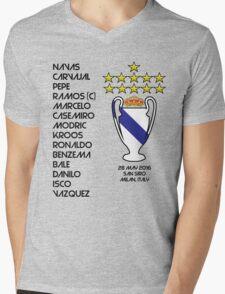 Real Madrid 2016 Champions League Winners Mens V-Neck T-Shirt