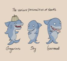 The Various Personalities of Sharks by Kim  Harris