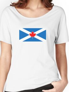 Scotland Canada Flag Mashup  Women's Relaxed Fit T-Shirt