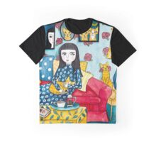 A Girl and Her Ginger Cats Graphic T-Shirt