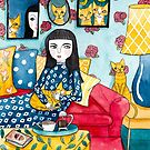 A Girl and Her Ginger Cats by Ryan Conners