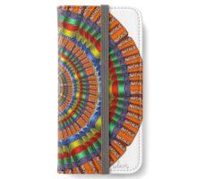 Natalie Fractal chrome colors iPhone Wallet/Case/Skin