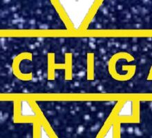 michigan logo glitter Sticker