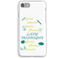 Lady Midnight Character Nick Names iPhone Case/Skin