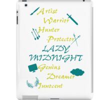 Lady Midnight Character Nick Names iPad Case/Skin