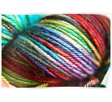 Colorful Yarn Skein for knitters Poster