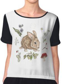 Woodlant Rabbit  Chiffon Top