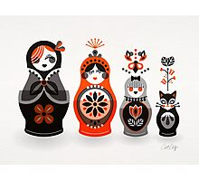 Russian Nesting Dolls – Red & Black Photographic Print