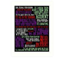 Beetlejuice Quotes Art Print