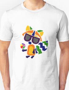 Cool Funny Raccoon Abstract Beach Art T-Shirt
