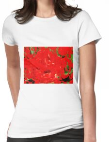 many roses Womens Fitted T-Shirt