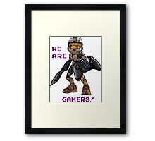 Inspired by Halo Framed Print