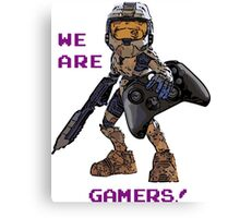 Inspired by Halo Canvas Print