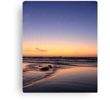 Dusk On The Beach Canvas Print