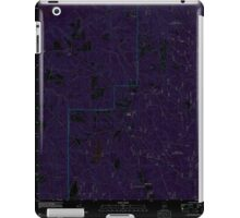 USGS TOPO Map Alabama AL Parker Springs 20110926 TM Inverted iPad Case/Skin