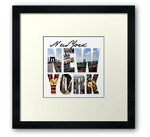 New York Scenes Framed Print