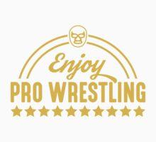 Enjoy Pro Wrestling - Yellow One Piece - Short Sleeve