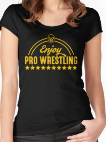 Enjoy Pro Wrestling - Yellow Women's Fitted Scoop T-Shirt