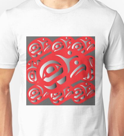 Red Ovoids Eagle Family Unisex T-Shirt