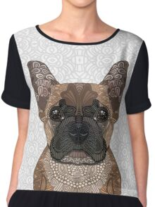French Bulldog Chiffon Top