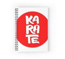 KARATE DESIGN CALLIGRAPHY EMEICEA Spiral Notebook