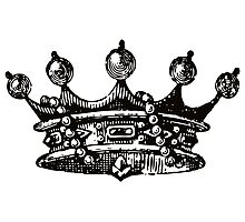 Royal Crown | Black and White Photographic Print