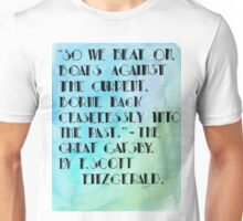 The Great Gatsby End Quote. Unisex T-Shirt