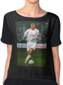 Zidane at Real Madrid Painting Chiffon Top