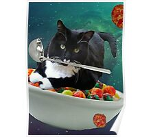 cereal cat Poster