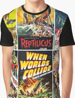 Vintage Sci-Fi Movie Poster Art Collection #1 Graphic T-Shirt
