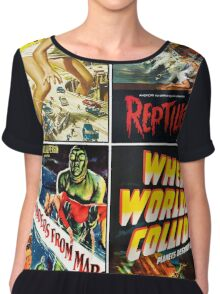 1950s Sci-Fi Poster Collection #2 Chiffon Top
