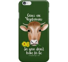 Cows are Vegetarians Funny Saying iPhone Case/Skin