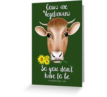 Cows are Vegetarians Funny Saying Greeting Card