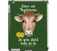 Cows are Vegetarians Funny Saying iPad Case/Skin