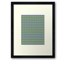 Light Blue and Yellow Rows Framed Print