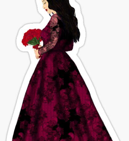 Frau in Rot Sticker