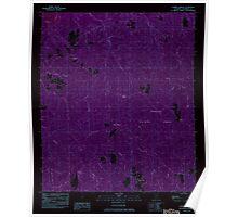 USGS TOPO Map Alabama AL Parker Springs 304786 1982 24000 Inverted Poster