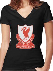 LIVERPOOL OLD LOGO crest badge vintage retro Women's Fitted V-Neck T-Shirt